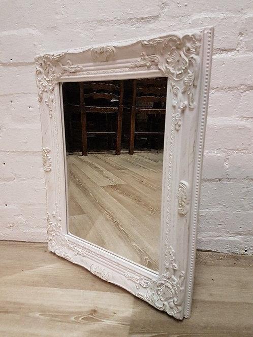White & Gold Wall Mirror