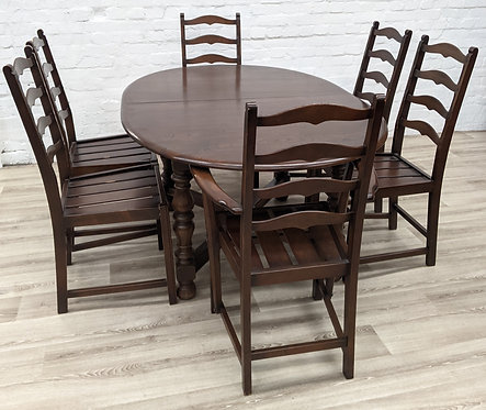 Ercol Extending Dining Table With Six Chairs