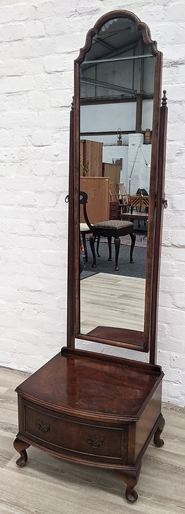 Queen Anne Style Cheval Mirror