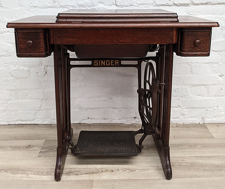 Singer Treadle Sewing Machine with Oak Frame
