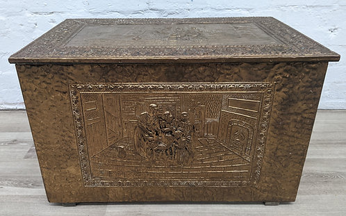 Brass Embossed Coal Box