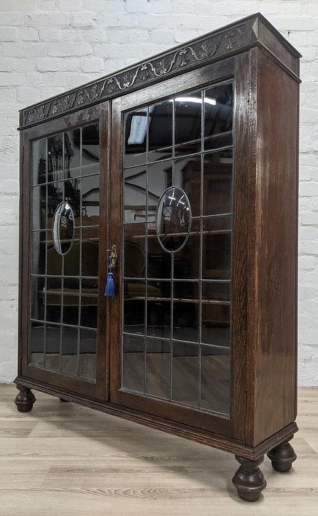 Glazed Oak Bookcase