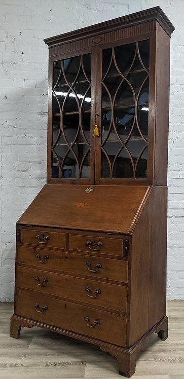 Edwardian Writing Bureau With Bookcase