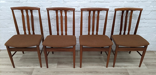 Four Mid Century Dining Chairs