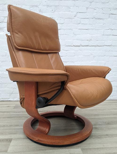 Ekornes Stressless Tan Leather Reclining Armchair