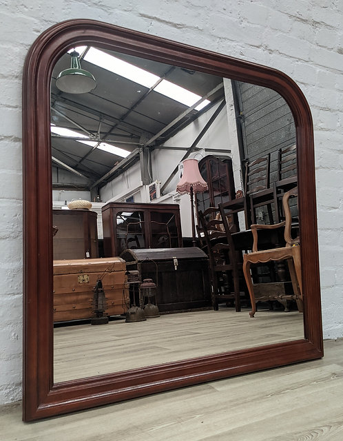 Mahogany Overmantle Mirror