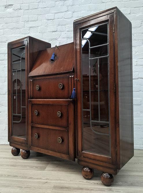 Vintage Writing Bureau/Bookcase