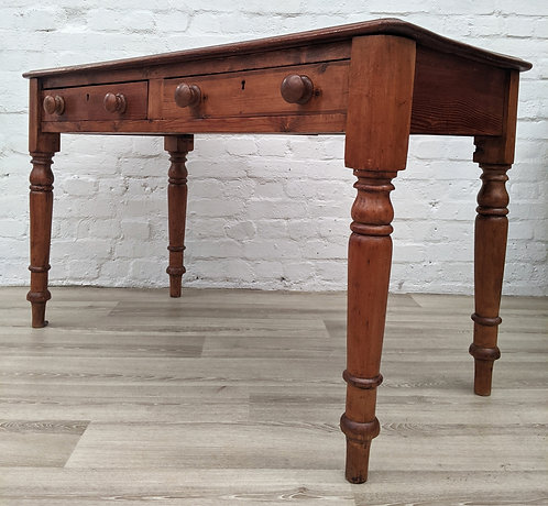 Antique Desk With Leather Skiver