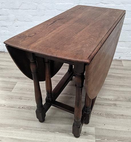 Vintage Oak Gate Leg Dining Table