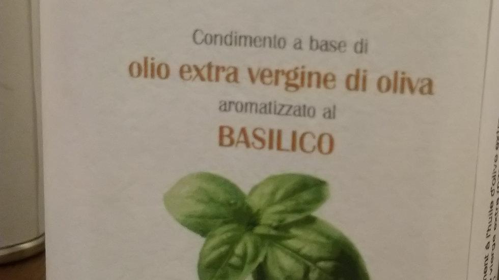 Huile d'olive extra vierge aromatisé basilic