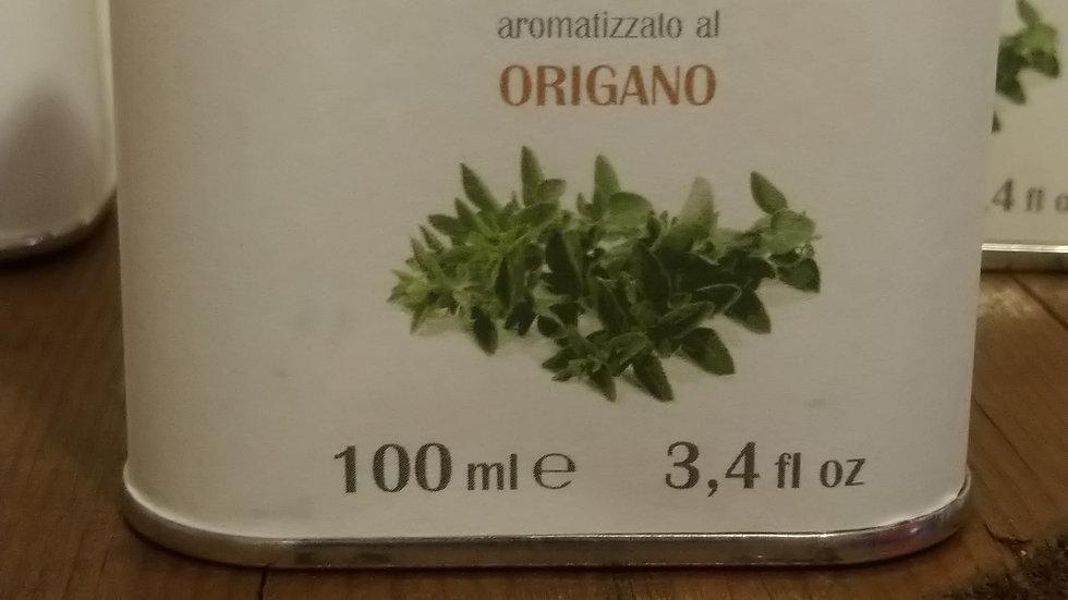 huile d'olive extra vierge aromatisé origan bidon 100ml