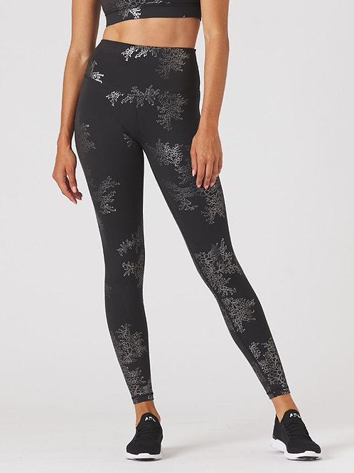 Glyder Sultry Legging - Black/Silver Gloss Lace