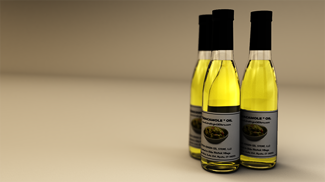 3D Render of Guacamole Oil