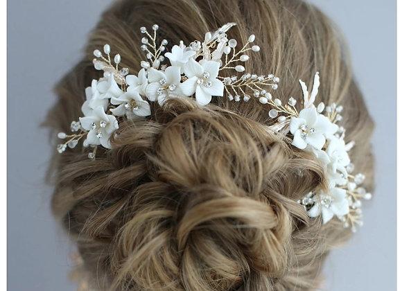 Sweet Bridal Hair Comb Jasmine Flowers Bridal hair Pieces