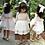 Thumbnail: Brides Flower Girls White Dress Lace Long Sleeve Vintage