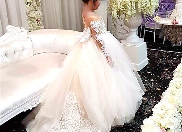 Brides Flower Girl Princess First Communion Dress Posh