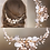 Thumbnail: Bridal Hair Comb White Gold Pansy Bridal hair Pieces