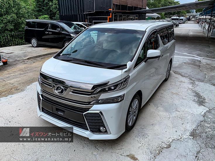 2015 Toyota Vellfire 2.5 ZA