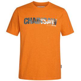T-Shirt chainsaw, pomarańczowy