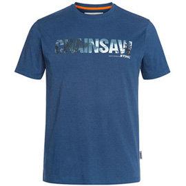 T-Shirt chainsaw, niebieski