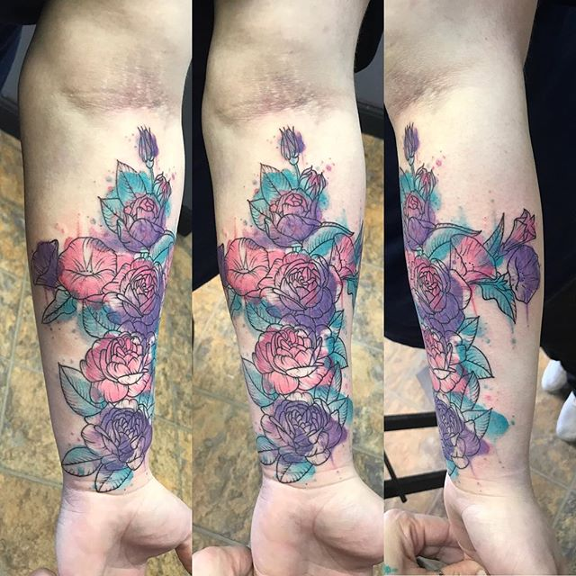 #roses #cross #watercolortattoo #waterco