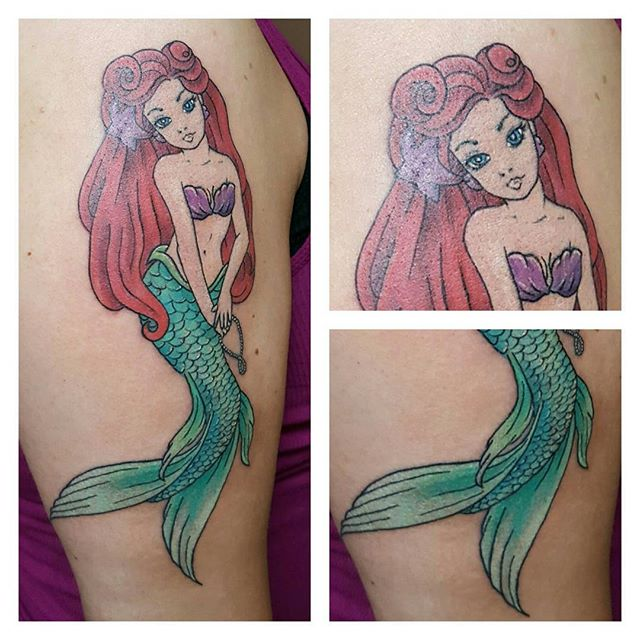 #mermaid #mermaidtattoo #premiertattoostudio #premier #tattoos #tattoosbydynamite #colortattoos