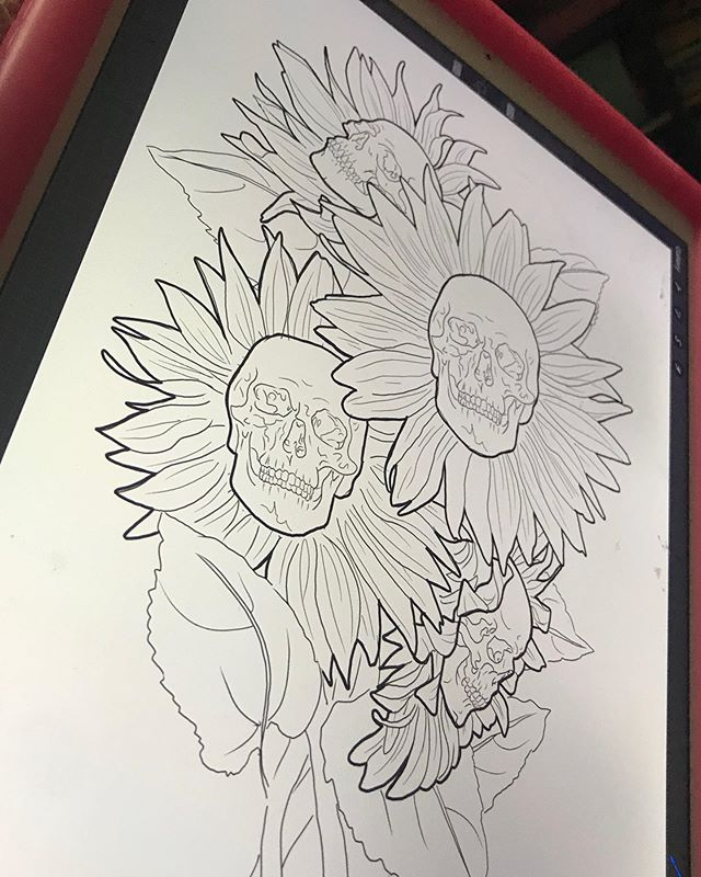 Custom skull sunflowers up for grabs! Me