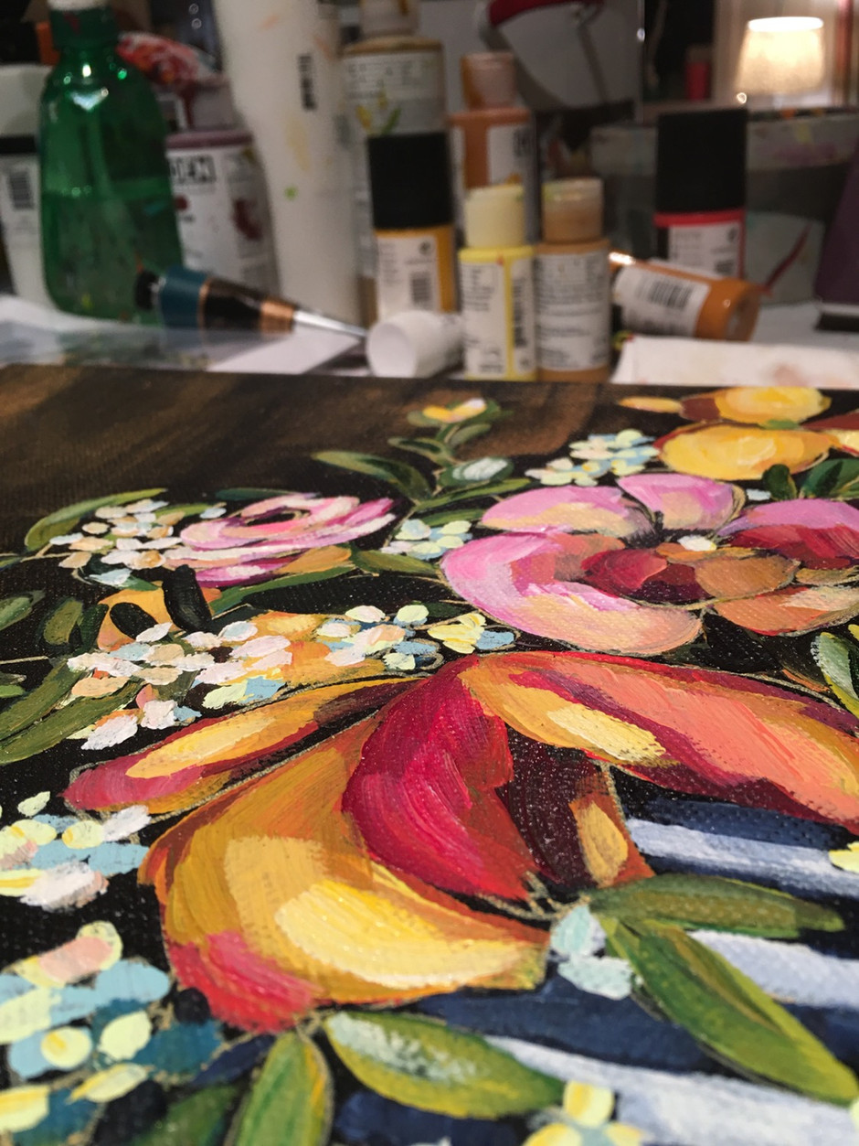 New paintings coming the first day of spring! You can see a little demo on my YouTube page.
