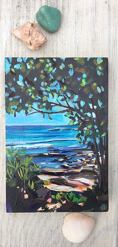 "Sea glass ""through the trees"""