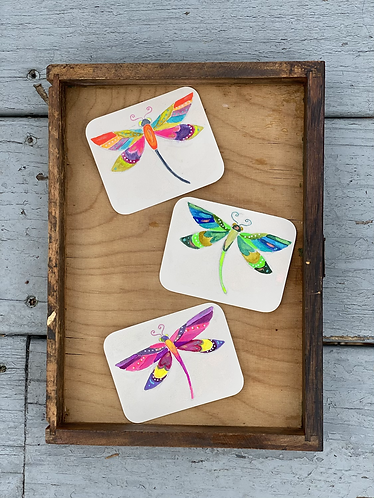 Gift tags dragonflies