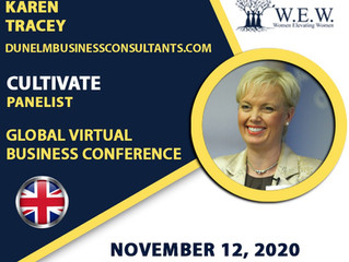 Karen Tracey features as a panellist at the Women Elevating Women Virtual Business Conference.