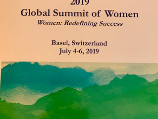 Karen Tracey attends the Global Summit of Women in Switzerland