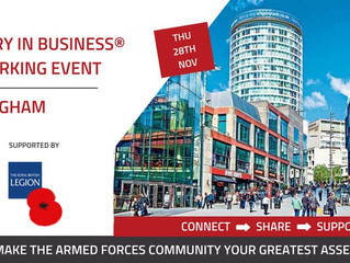 Military in Business Birmingham - Thursday 28th November 2019