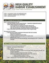 habitat establishment - Grass conversion