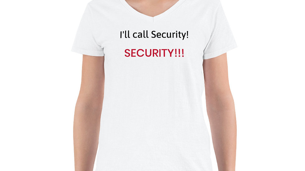 Women's Casual V-Neck Shirt - KenYUCK I'll call Security! SECURITY!!!