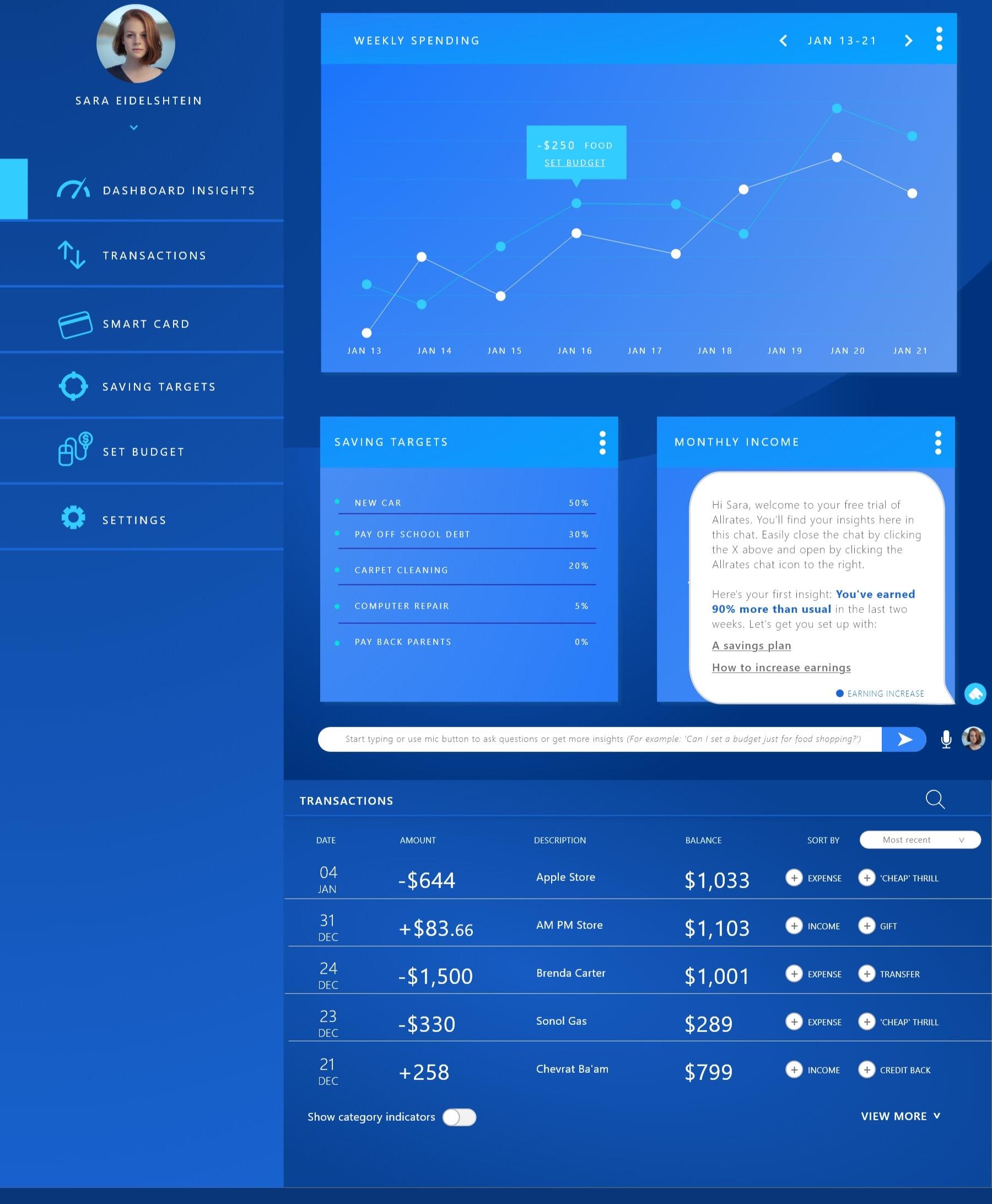 Smart Banking Dashboard