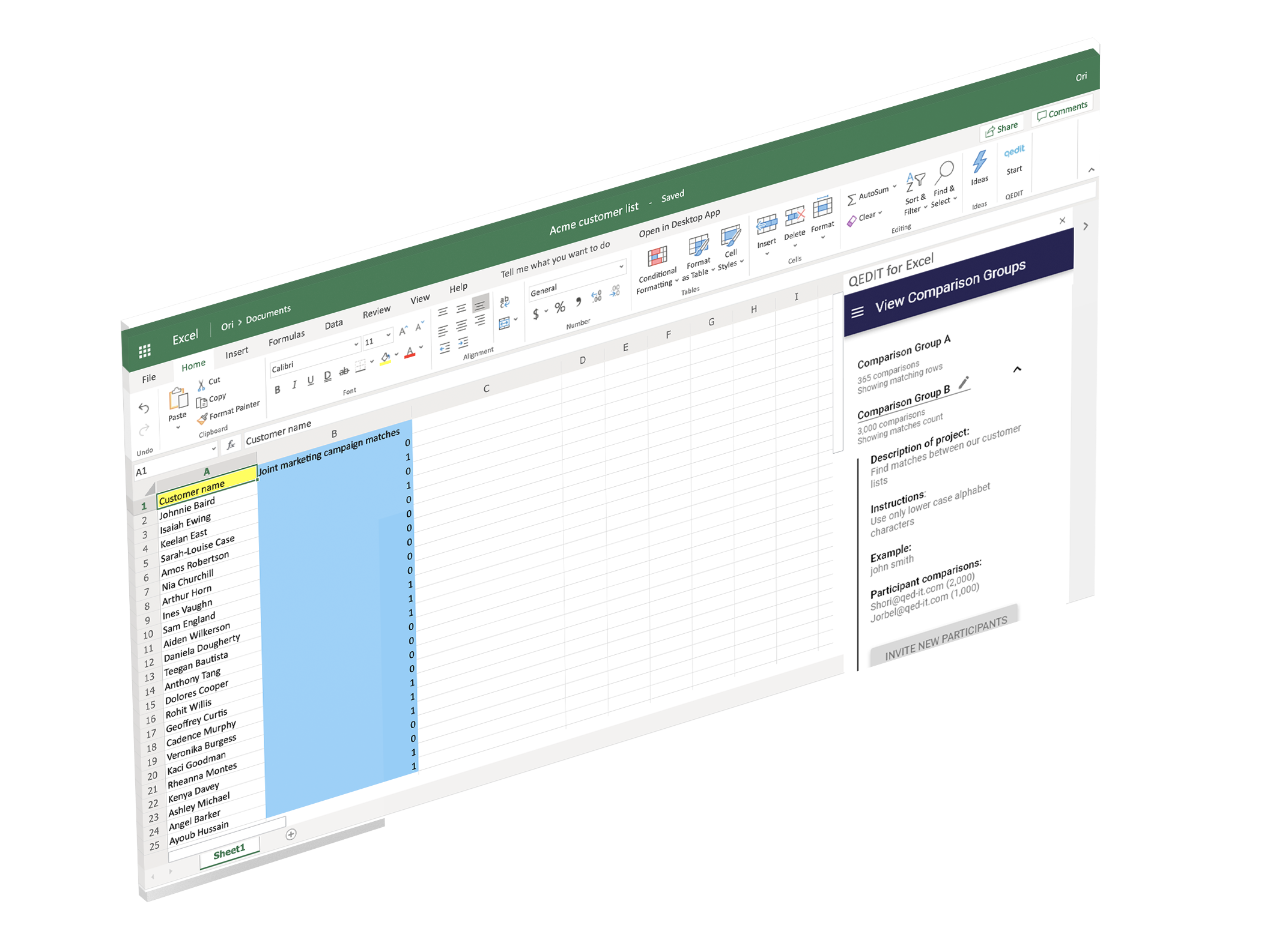 Add-in for Excel