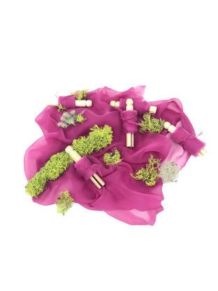 Fuchsia Silk Gauze Ribbon