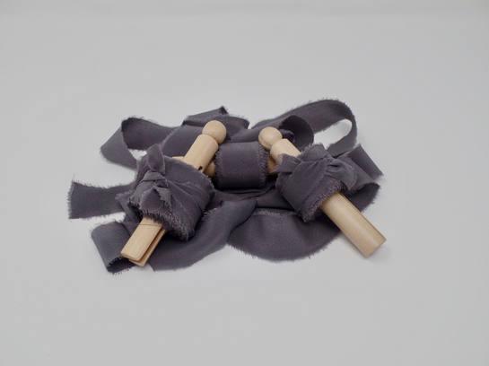 Deep plum silk ribbon