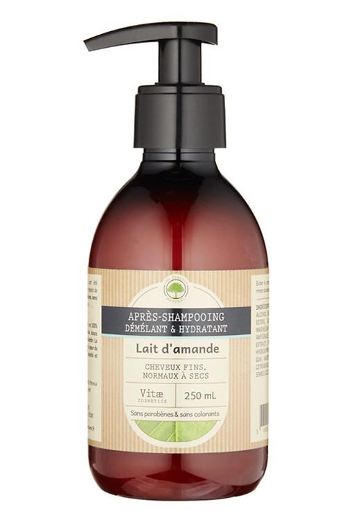 Vitae Cosmetics - Après-shampoing hydratant Lait d'amende - 250mL