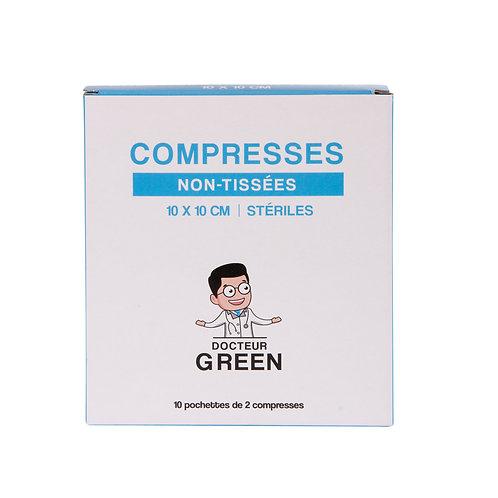 Dr Green – 20 Compresses stériles non-tissées 10x10 cm