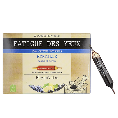 Phytovitae 20 ampoules Fatigue des yeux