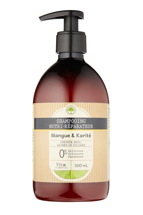 Vitae Cosmetics - Shampooing nutri-réparateur Mangue Karité - 500mL