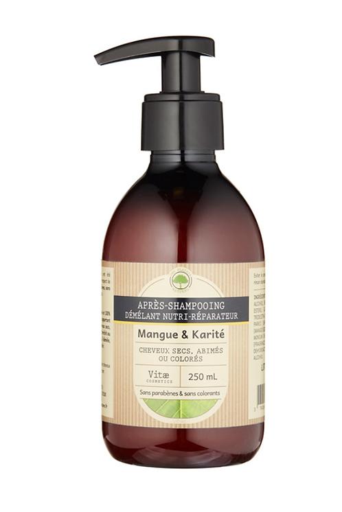 Vitae Cosmetics - Après-shampoing nutri-réparateur Mangue karité - 250mL