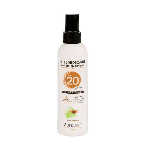 SUNSAVE – Huile solaire SPF 20 - 150mL