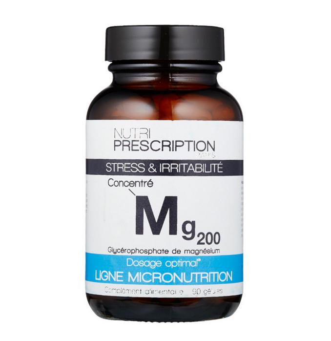Mg200 Nutriprescription stress et irritabilité complément alimentaire