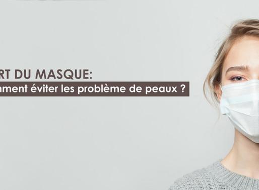 Port du masque obligatoire : comment éviter les problèmes de peau ?