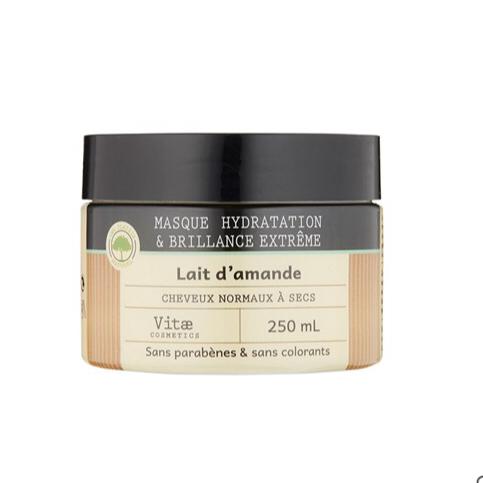 Vitae Cosmetics - Masque Hydratation et Brillance extrême - 250mL
