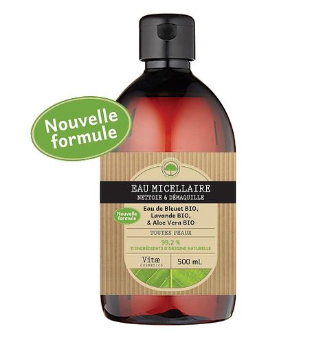 Vitae Cosmetics – Eau micellaire à l'eau de Bleuet et Aloe vera – 500mL