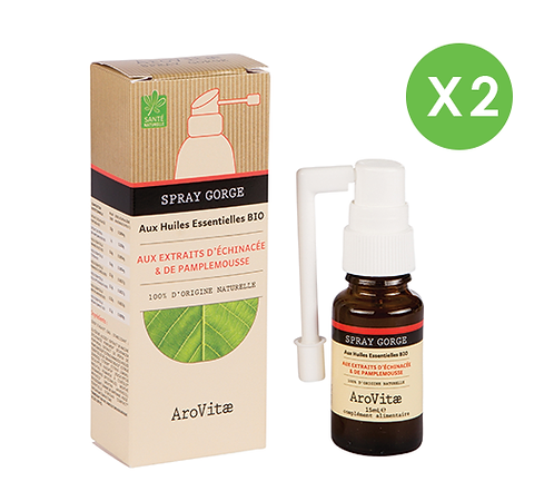 Arovitae – Duo Spray gorge – 15mL x 2